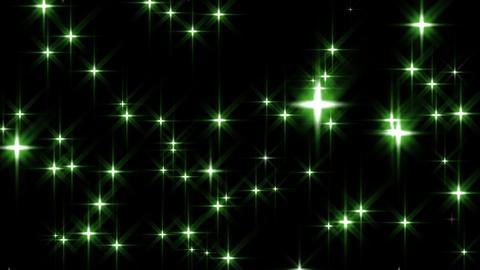 Green Stars Loop Animation