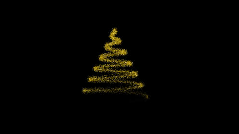 Glitter Christmas Tree Animation