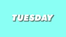 Isometric Weekday Animation Tuesday Footage