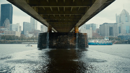 Rainy Day Over Pittsburgh and Allegheny River Footage