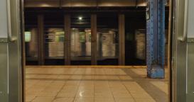 Subway Train Doors Closing Footage