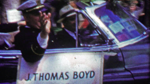 1952: J. Thomas Boyd Chief of Police parade car Live Action