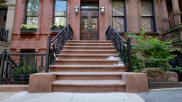 Typical New York Brownstone Establishing Shot Footage