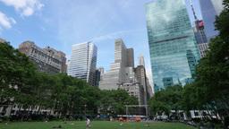 Manhattan Skyline as Seen from Bryant Park Footage