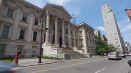Day EStablishing Shot of Manhattan Court House Tweed Courthouse Footage