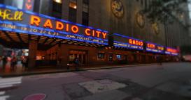 Night Radio City Music Hall Time Lapse Footage