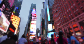 Night Times Square Timelapse Establishing Shot Footage