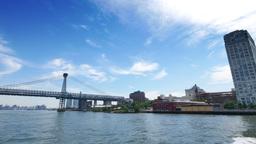 Pan to Williamsburg Bridge Establishing Shot Footage