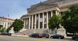 Archives of the United States Building Establishing Shot Footage