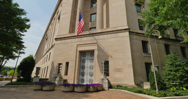 Department of Justice Building Establishing Shot Footage