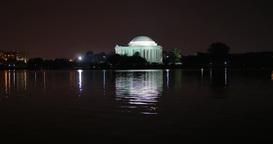 Jefferson Memorial Night Establishing Shot Footage