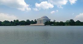 Jefferson Memorial Wide EStablishing Shot Footage