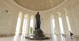 Inside the Jefferson Memorial Footage