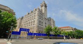 Trump Hotel Under Construction in Washington DC Footage
