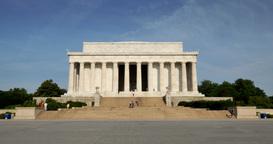 Tilt Up Lincoln Memorial Establishing Shot Footage