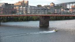 Speedboat Under Smithfield Street Bridge Footage