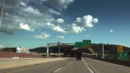 Driving on Route 65 into Downtown Pittsburgh Footage