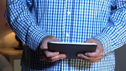 Businessman Uses Tablet PC iPad Footage
