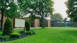 Day High School Building Establishing Shot Footage