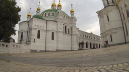 National Kyiv-Pechersk Historical and Cultural Preserve Establishing Shot Footage