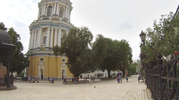 Tourists Visit the National Kyiv-Pechersk Historical and Cultural Preserve Footage