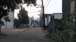 Empty Alley in Pittsburgh City Footage