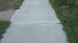 Sidewalk POV Walking Footage