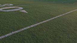 Football Field Steadicam At Dusk stock footage