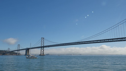 San Francisco Bay Bridge Day Establishing Shot Footage