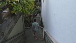 Man Walks Down San Francisco Steps Footage