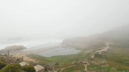 Sutro Baths Foggy Establishing Shot Footage