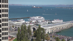 San Francisco Bay Daytime Establishing Shot Footage