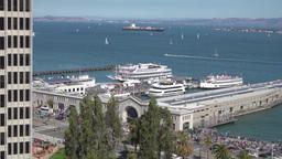 San Francisco Bay Daytime Establishing Shot Footage