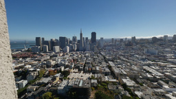 View of San Francisco from Coit Tower Footage