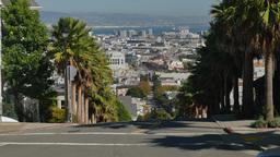 Steep Street in San Francisco Haight-Ashbury Area Footage
