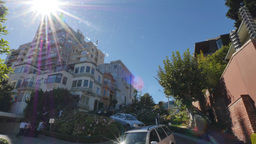 Driving Down Lombard Street in San Francisco Footage