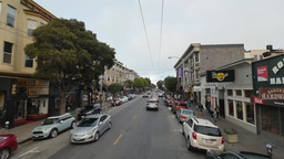 Driving POV Haight Ashbury Area Footage