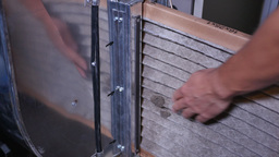 Replacing Dirty Furnace Air Filter Footage