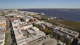 Aerial of Downtown Charleston, South Carolina Footage