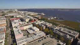 Aerial of Downtown Charleston, South Carolina Footage