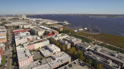 Aerial of Downtown Charleston, South Carolina Stock Video Footage