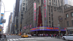 Radio City Music Hall Decorated for Christmas Footage