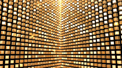 Gold Background Glow Shimmer Wall Abstract Animation