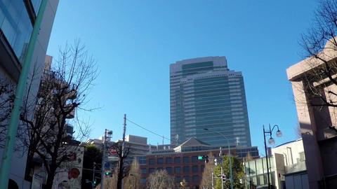 Japanese cityscape. Travel image near Yebisu Garden Place ビデオ