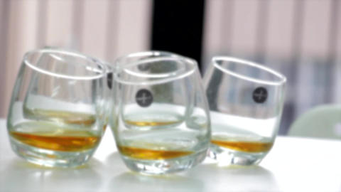 Whiskey glasses alcohol moving Live Action