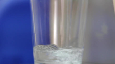 Water pouring glass liquid thirst Footage