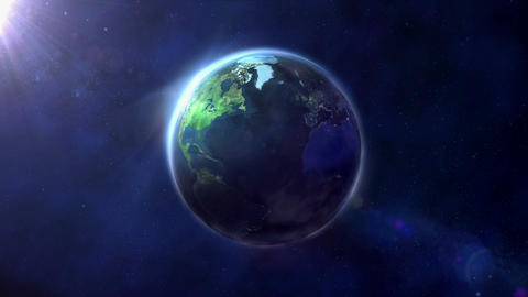 The globe is illuminated by half Footage