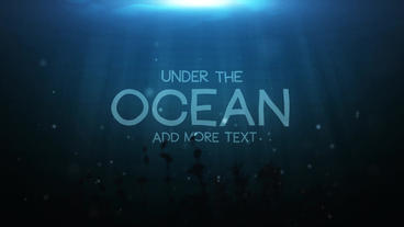 Underwater Title Motion Graphics Template