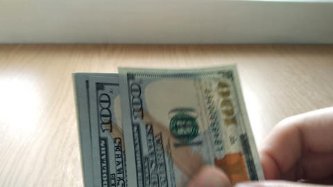 Counting money Footage