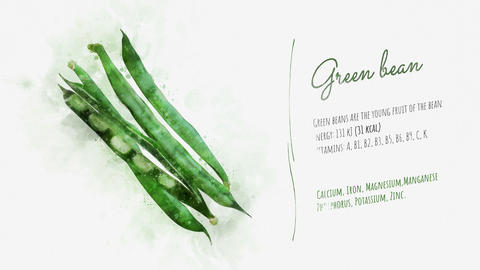 Description of the Green bean properties Animation